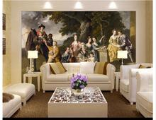 "Custom photo wallpaper 3d mural beauty ""Sir William young family"" European background wall paintings wall papers home decoration"