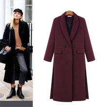 Designer Womens Winter Jackets And Coat Long Over The Knee Two Sides Split Grey Woolen Overcoat Cashmere Warm Parka Outwear