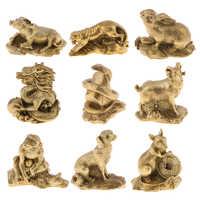 Messing Chinesischen Sternzeichen Tier Figuren Skulpturen Feng Shui Dekoration Statuen Ornamente Geld Glück Glück
