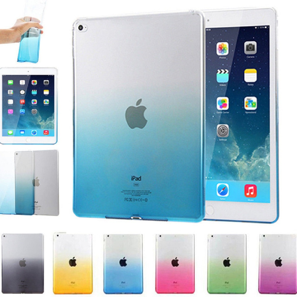 For IPad 9.7 2017 Case Cover Silicone Soft A1822 A1823 Gradient Clear Case Slim Shell Cover For IPad 2017 2018 9.7 Inch