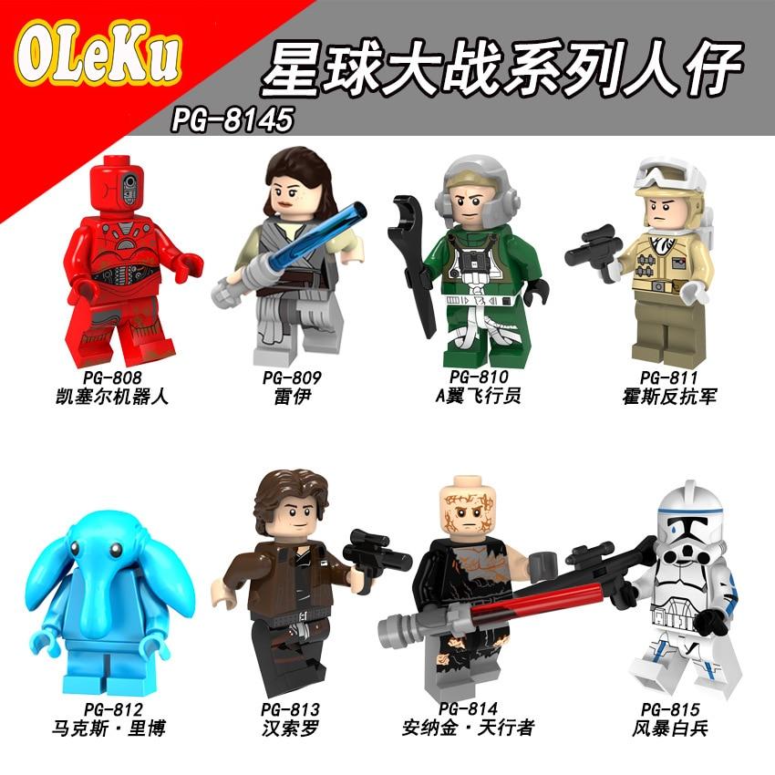 For Legoing Star Wars Rey The Last Jedi Starwars Darth Vader Luke Stormtrooper Yoda Model Building Blocks Bricks Toys Figures #5