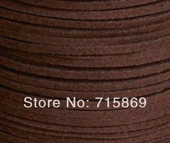 Free Ship Dark Coffee Color 100 Meters 10mm x 1.5 mm Faux Leather Suede Ribbon Cord - DIY Leather Cord