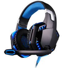 Marsnaska 100% Wire Gaming Headphone Gaming Headset Over Ear casque gamer Game Headphone With Microphone Mic LED light for PC