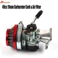 Racing 19mm Carburetor Air Filter Assembly Carb 49cc 50cc 60cc 66cc 80cc 2 Stroke Gas Motorized Bike Engine