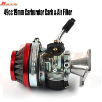 Racing 19mm Carburetor Air Filter Assembly Carb 49cc 50cc 60cc 66cc 80cc 2 Stroke Gas Motorized Bike Engine