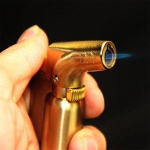 Image 2 - Compatto Butano Getto Più Leggero Torcia Turbo Accendino Fisso Fuoco Pistola A Spruzzo Portatile Più Leggero del Metallo Antivento 1300 C No Gas