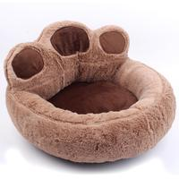 TPFOCUS Cute Cartoon Bears Paw Shape Pet Nest for Dogs Cats Autumn Winter Use With zipper design easy to clean Breathable