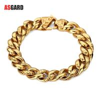 ASGARD Men Jewelry Stainless Steel Bracelet Luxury Thick Bracelet Fashion Charm Bracelets Bangles Pulseiras Gifts Wholesale