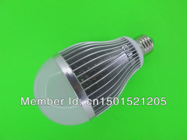 18W LED bulbs, dimming bubble bulb AC85 - 265V, E27 , silver shell color, warm / cool white ,9 *2W+ Free shipping
