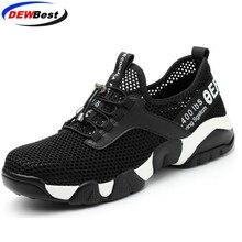 Aramid подошва дышащая защитная обувь для женщин и мужчин легкий летний анти-разбивающий пирсинг работы сандалии одинарный, сетчатый кроссовки