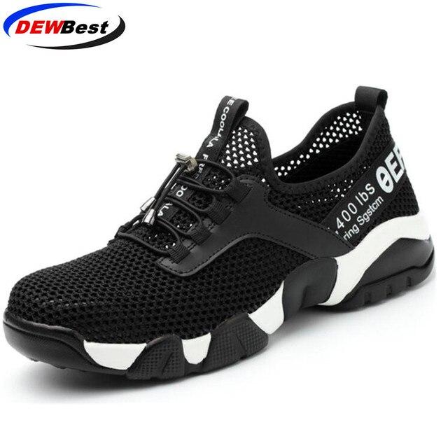 Aramid duy nhất giày an toàn Thoáng Khí Phụ Nữ và nam giới của mùa hè Nhẹ chống đập piercing dép làm việc Duy Nhất lưới sneakers