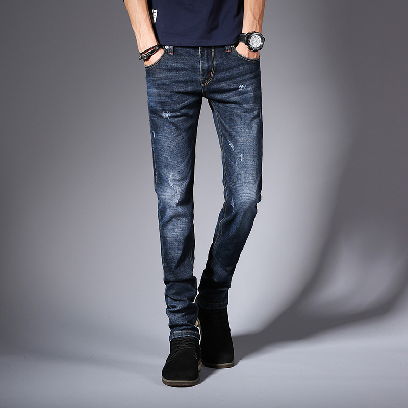 KSTUN Mens Black Jeans Blue Jeans Spring and Autumn Business Casual Slim Fit Elasticity Denim Pants Classic Style man jean homme 13