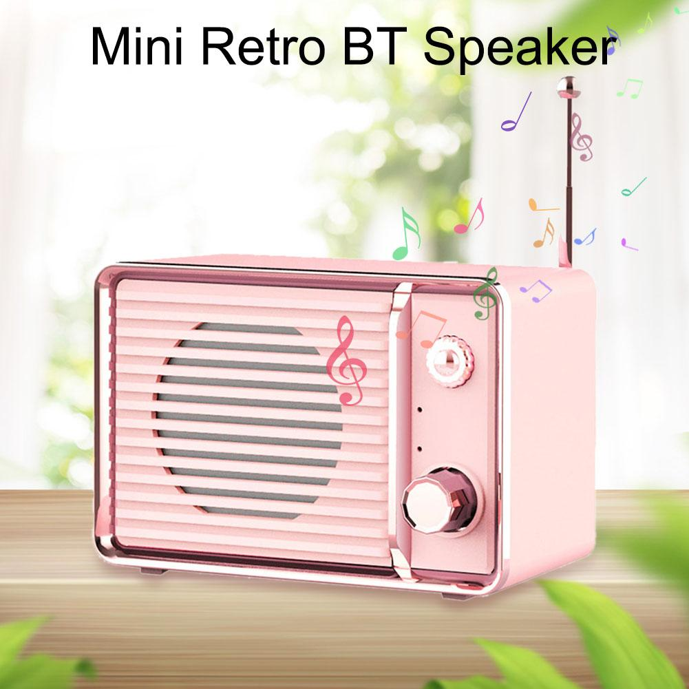 DW01 Mini Wireless Stereo Speaker Portable Bluetooth Retro Speaker for Home Travel Outdoor Android iOS Speakers in Portable Speakers from Consumer Electronics