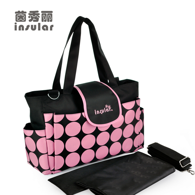 New Arrival Round Dots  Baby Diaper Bags Brand Waterproof Nappy Bags Fashion Mommy Bags For Stroller