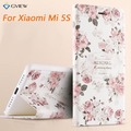 3D Relief Pattern PU Leather Intelligent Sleep Flip Cover Case For Xiaomi Mi 5S Mi5S Stand Function Smart Phone Bag 5.15 inch