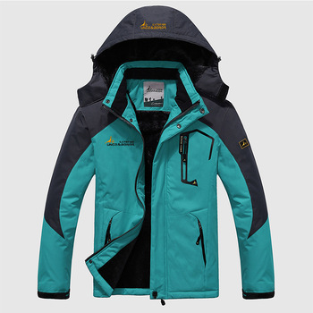 Men\s Winter Inner Fleece Waterproof Jacket 1