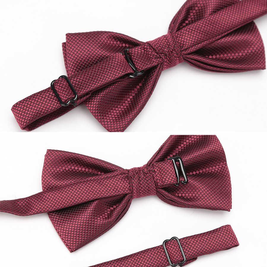 XGVOKH الرجال العلاقات الأزياء فراشة حزب بابيون الزفاف للأولاد الفتيات الحلوى الصلبة اللون Bowknot الجملة اكسسوارات بووتي