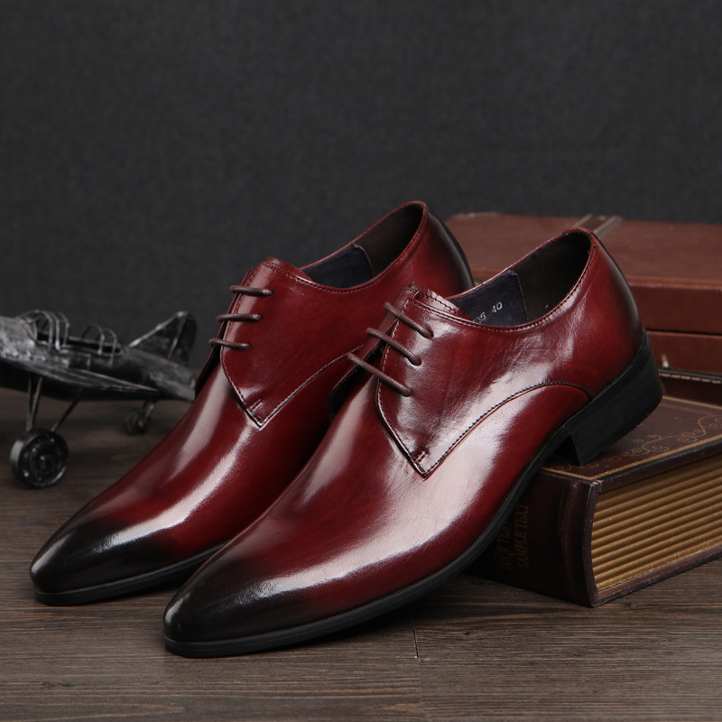 new flats black genuine leather formal shoes for