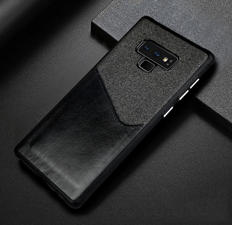 Luxury Business Cloth+leather Wallet Case for samsung note 9 8 with Card Pocket Cover for samsung galaxy S8 S9 Plus case Coque   (9)