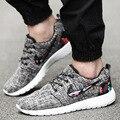 2016 Novos Homens Lona Sapatos Da Moda calçados casuais dos homens Respirável Lace-up Sapatos de Alta Qualidade Plus Size 39-46