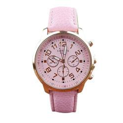 2018 новые модные Для женщин ретро Женева мужской кожаный ремешок аналоговые кварцевые наручные часы Vogue женские часы relogios femininos F80
