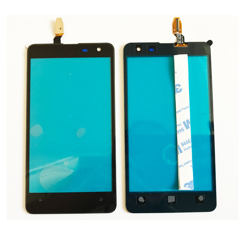 טלפון סלולרי חדש לוח מגע עבור Nokia Lumia 625 מסך מגע Digitizer חזית זכוכית עדשת חיישן + 3 M דבק קלטת
