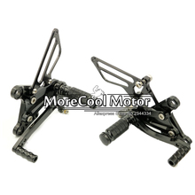 En aluminium Repose-pieds Arrière Set Pour Kawasaki ZX6R 2009 2010 2011 2012 2013 2014 Moto CNC Réglable Repose-pieds Rearset