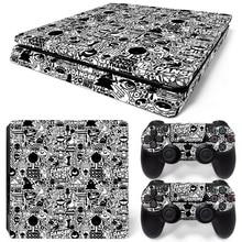 Прямая, Виниловая наклейка для PS4, тонкая наклейка для playstation 4, тонкая консоль и 2 контроллера, наклейка для кожи