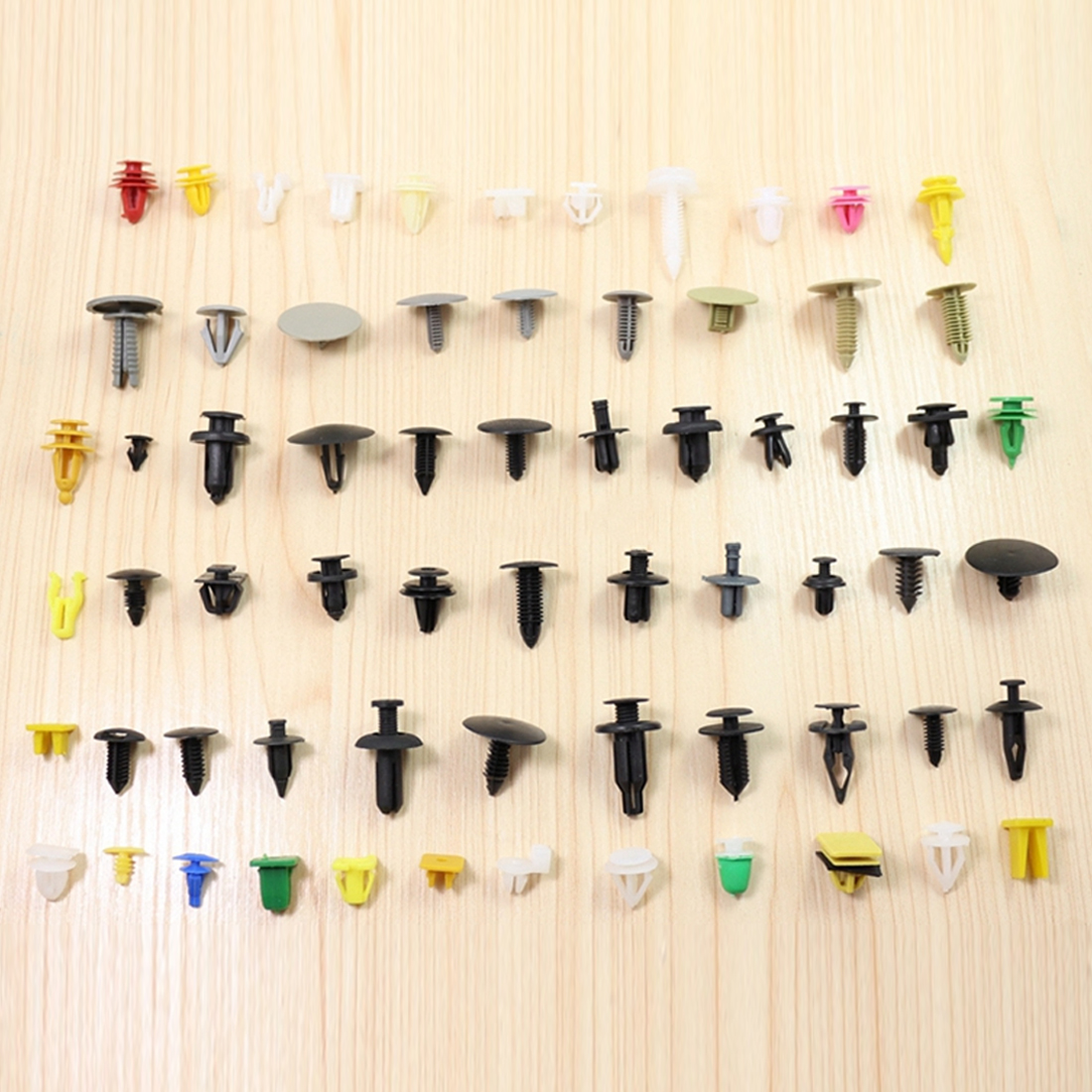 Dewtreetali Universal Auto Fastener Car Bumper Clip 100/200pcs Mixed Vehicle Retainer Rivet Door Panel Fender Liner Car Stylin