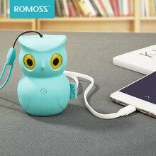 ROMOSS 5200 mAh güç banka mükemmel baykuş kişiselleştirilmiş hediye 2.1A çıkışı taşınabilir şarj iPhone Samsung ve diğer akıllı ...