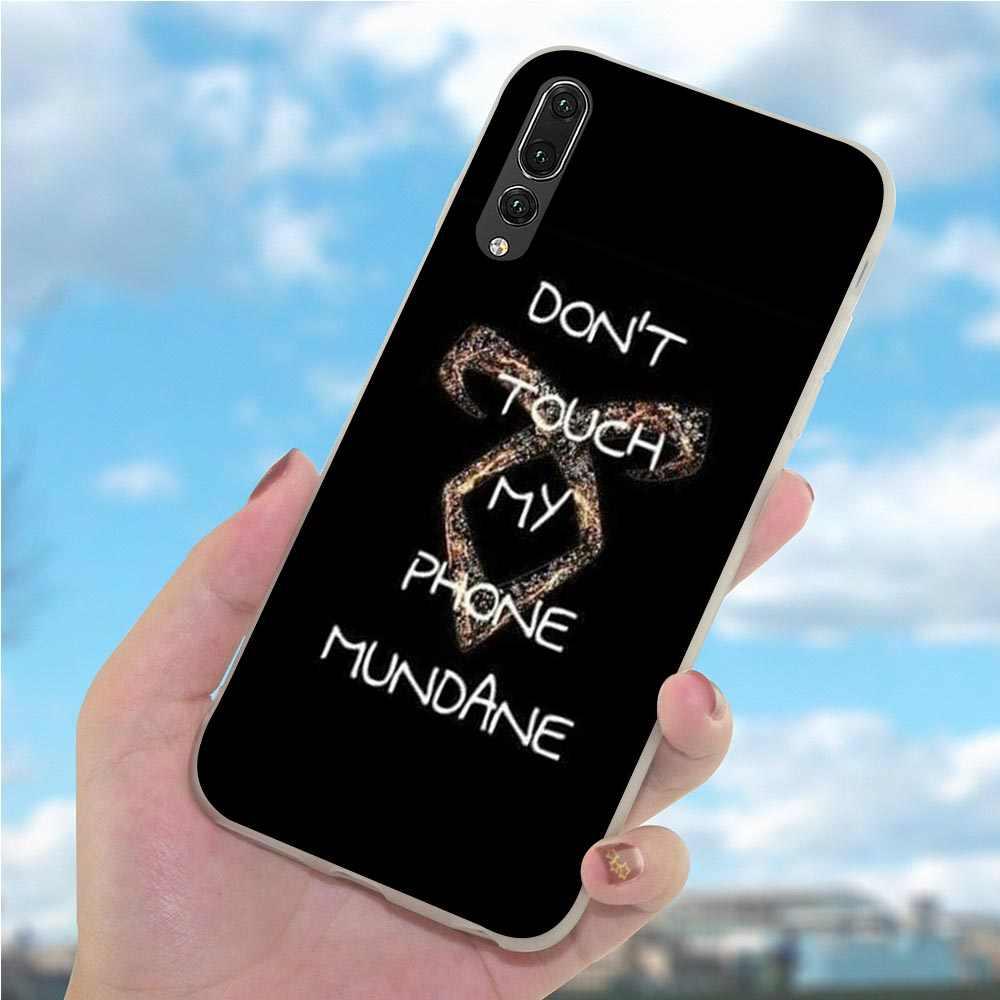 Macio TPU Tampa Do Telefone Capa de Silicone para Huawei P10 Lite Caçadores de Sombras para P20 10 P30 P Inteligente 2018 2019 Mate 20 Pro P8 P9 Shell