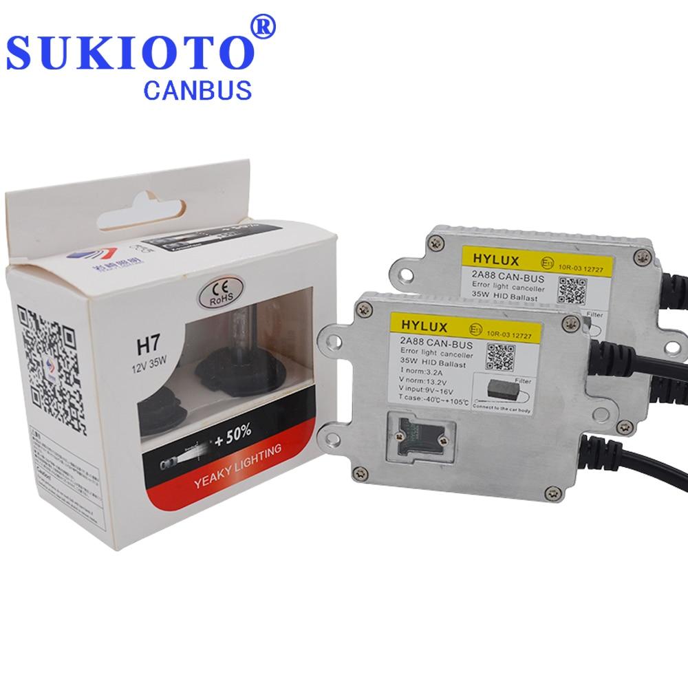 цена на SUKIOTO Canbus HID Xenon Kit Hylux 2A88 ballast Headlight Yeaky D2H H1 H7 H11 HB3 D2S Yeaky lighting 4500K 5500K 6500K hyluxtek