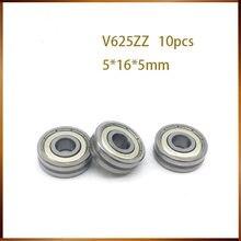 V625z fixmee 5X16X5mm Deep10PCS V625zz ranura Vgroove HCS sellado bola rodamientos con envío gratis