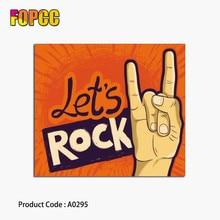Vamos a rock pegatinas de rollo de la música punk para teléfono portátil  monopatín 62b01bc63ba