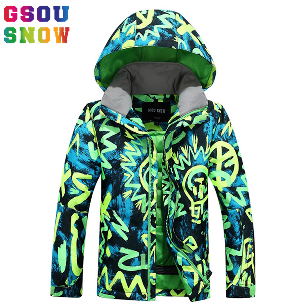 GSOU SNOW Winter Boys Ski Jackets Outdoor Waterproof Windproof Kids Snowboard Jacket Winter Warmth Colorful Snow Jacket CoatsGSOU SNOW Winter Boys Ski Jackets Outdoor Waterproof Windproof Kids Snowboard Jacket Winter Warmth Colorful Snow Jacket Coats