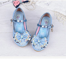 Spring Summer Children Princess Sandals Kids Girls Crystal Bowtie Shoes Party Dancing Hight Heels Shoes For Girls Kid 2018 toddler girls princess crystal rhinestone sandals little kid glitter sequin pumps big children pageant dancing dress shoes