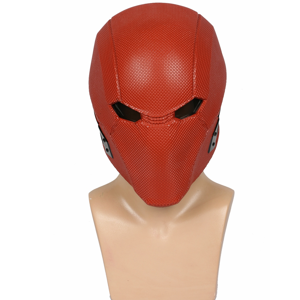 Coslive Injustice 2 Red Hood Mask Red Game Cosplay Helmet Adult Costume Props for Halloween