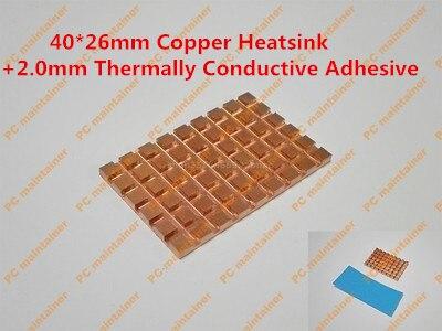 40*26mm Cuivre Du Dissipateur + 2.0mm Thermiquement Conducteur Adhésif mSATA NGFF 5030 msata3.0 solid state disque SSD radiateur Refroidisseur