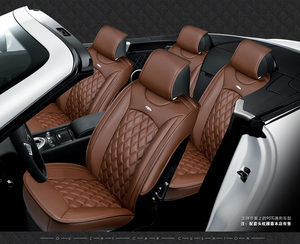 Image 5 - 5 seats Car Seat Cover Sports Styling,Senior Leather, Whole Surrounded Car Seat cushion,car  Interior Accessories