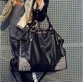 2017 женская Мода Сумочка Заклепки Сумка большая емкость женская сумка женская Сумка мешочки главной bolsa feminina