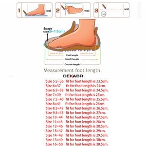 Image 5 - DEKABR Big Size 36~50 High Quality Genuine Leather Men Shoes Soft Moccasins Loafers Fashion Brand Men Flats Comfy Driving Shoes