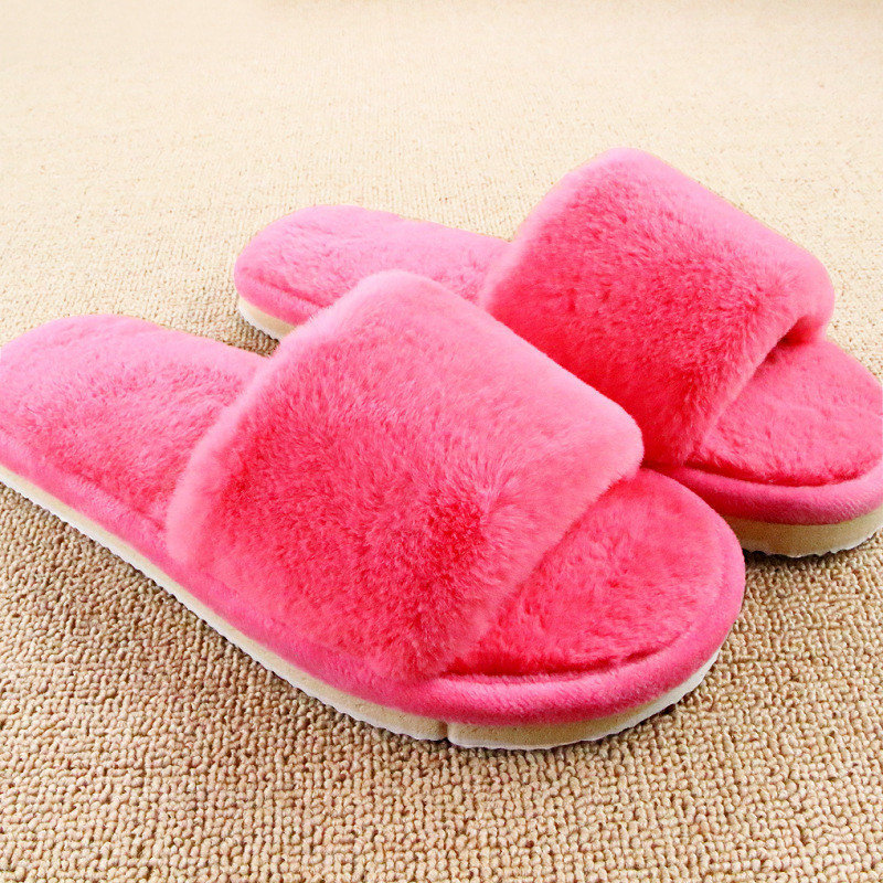 Design Women Slippers Comfortable Ladies Slides Home Indoor Plush Slippers Female Shoes Fur Chaussure Femme plush winter slippers indoor animal emoji furry house home with fur flip flops women fluffy rihanna slides fenty shoes