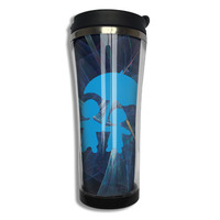 Cute Couple Blue Umbrella Coffee Mug Colorful Kids Tazas Stainless Steel Tumbler Caneca Tea Cups