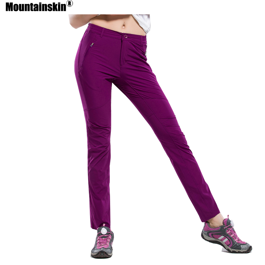 Mountainskin Summer Women's Quick Dry Breathable Elastic Soft Pants Outdoor Sports Fishing Hiking Camping Running Trousers VB050
