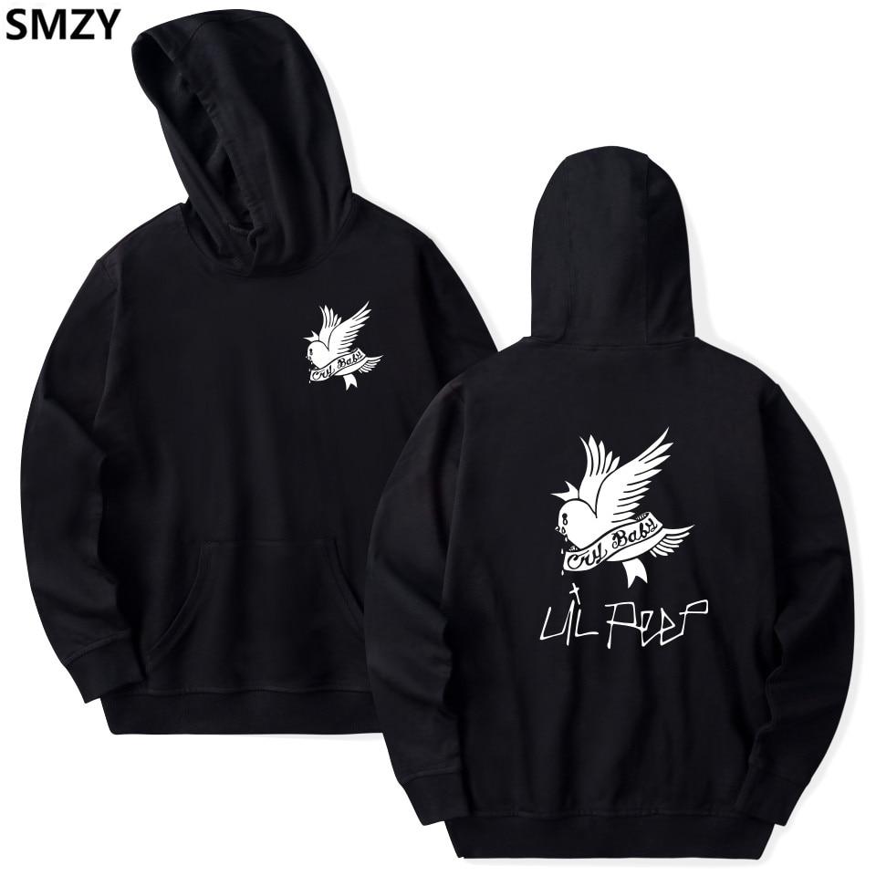 SMZY Lil Peep con capucha sudaderas con capucha Sudaderas Hombre Sudaderas Estados Unidos Popular cantante de Rap Sudaderas hombres la gran cantante de Hip Hop ropa