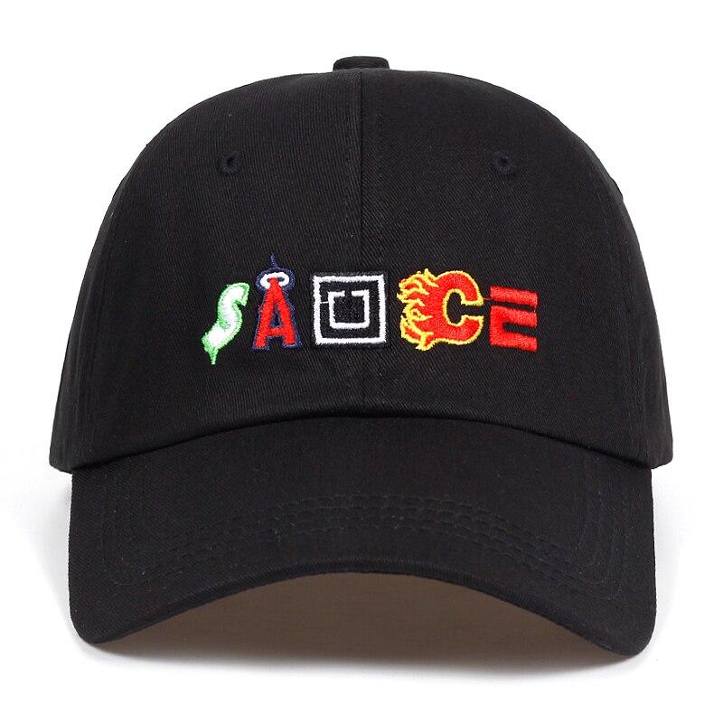 27056e87e1c Letter Sauce Snapback Cap Cotton Baseball Cap For Men Women Adjustable Hip  Hop Dad Hat Bone