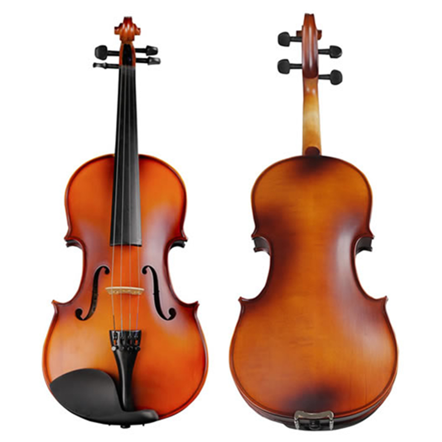 Natural Flamed Maple Violin Students Antique Matt Violino Strings Musical Instrument with Full Set Accessories TONGLING Brand