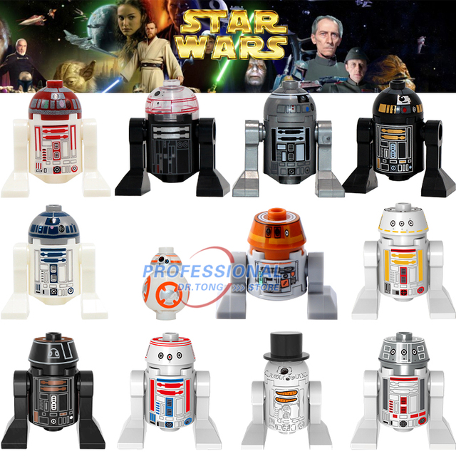 Star Wars Figures R2D2 R2Q2 R2Q5 BB8 SW424 RSF7 RSD8 S RsD8 C110p RSJ2 Classic Building Blocks Child Toys X0149