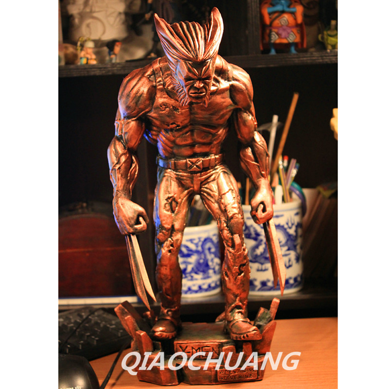 Statue Avengers X-Men Superhero Full-Length Portrait Wolverine Logan Howlett Bust Resin Action Figure Collectible Model Toy W235 god of war statue kratos ye bust kratos war cyclops scene avatar bloody scenes of melee full length portrait model toy wu843