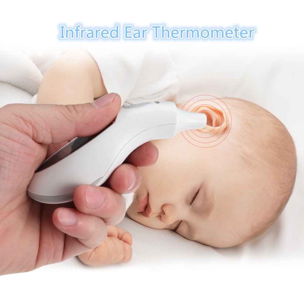 LCD Digital Infrared Ear Thermometer Portable Highly Accurate ChildrenS Thermometers For Baby Child Adult Family Health Care